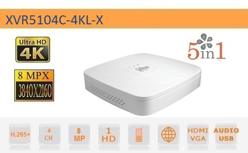 DVR 4 Canali 8MP HD CVI AHD TVI ANALOGICO IP 4K - Dahua