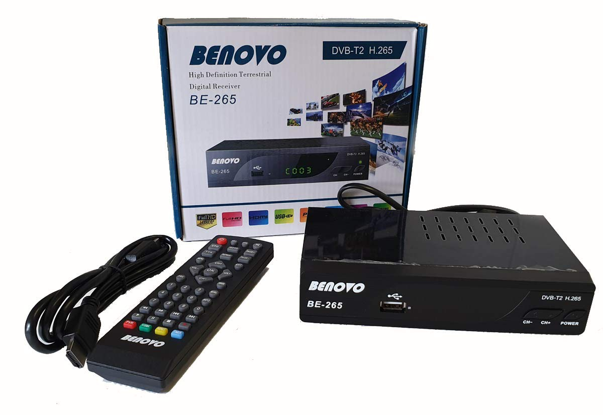 Ricevitore DVB-T2 tv digitale terrestre FULL HD 1080p HDMI SCART