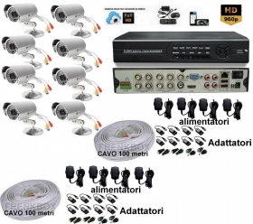 Kit videosorveglianza DVR 8can