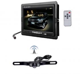 "Kit retromarcia telecamera ad incasso wireless con monitor LCD 7"" auto camper"