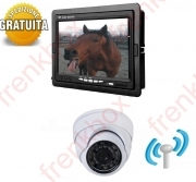 kit sorveglianza trasporto Trailer cavalli wireless.Telecamera Dome Monitor 7""