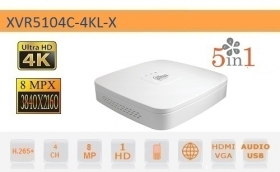DVR 4 Canali 8MP HD CVI AHD TV