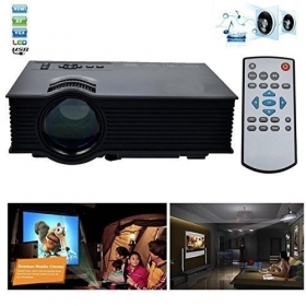 "Proiettore Videoproiettore LED 130"" 1080P FULL HD WIFI HDMI VGA USB Home Cinema"