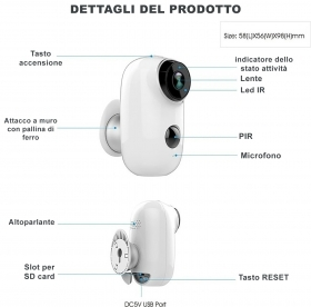 Telecamera WIFI IP DVR con bat