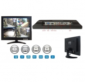 "Monitor LED 12"" Videosorveglia"