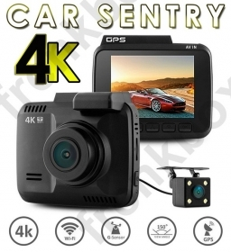 dash cam 4k doppia telecamera DVR auto motion detection antivandalo registratore