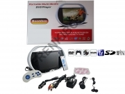 "Lettore DVD portatile LCD 9,5"" TV FM MP3 MP4 SD USB GAME BOOMBOX"