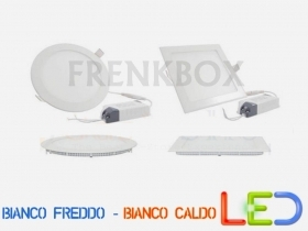 Faretto Faro a LED ultra slim 3-6-12-18-20-25w watt da interno incasso a molla