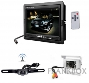 "Kit retromarcia auto camper Monitor 7"" LCD con 2 telecamere: wireless e via cavo"