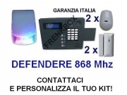 Antifurto casa GSM combinatore telefonico 4 sensori wireless Sirena Led esterna